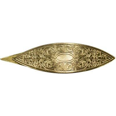 Lacis Victorian Engraved Tatting Shuttle-bronze