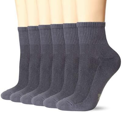 +MD 6 Pack Womens and 10-13 Socks Size/8-12 Men's Shoe Size, Grey(6Pairs)