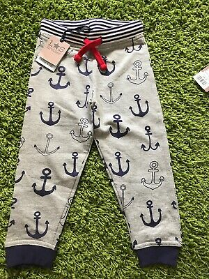 NEW Lilly & Sid Trousers 2-3yrs BNWT Boys Girls Clothing Anchor Joggers Grey