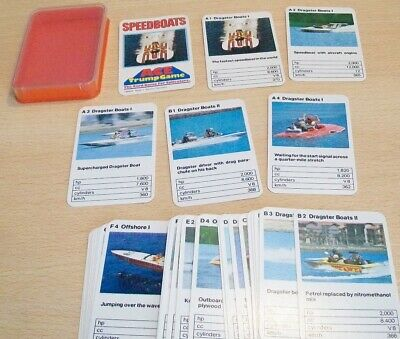 ACE Trump 'SPEEDBOATS' Card Game VGC OLD Top Trumps
