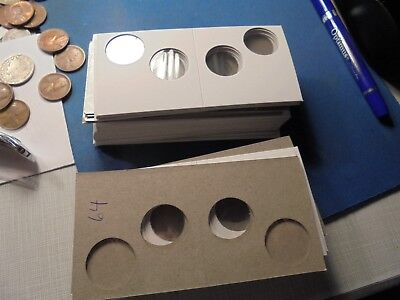 2 hole 2x2 Coin Mylar 64 Cardboard Flips For Cents  or  Dime #DDRA