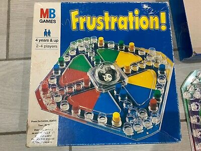 "Vintage Frustration ""pop-O-matic"" Board Game 100% Complete MB Games Hasbro 1996"