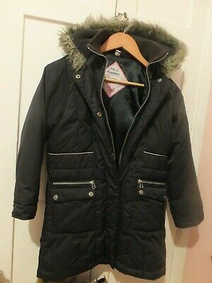 Next Boys /Girls Hooded Navy Padded School Coat Age 9/10 Years