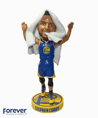 Stephen Curry Golden State Warriors w/Real Towel Bobblehead Exclusive #750