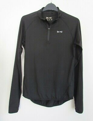 USA PRO Black Stretchy Short Sports Zip Top Size 8    ....LAUNDERED ONCE