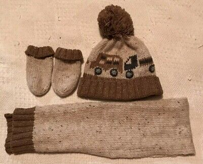 Next Baby Boys 3 Piece Hat, Gloves & Scarf Set. Age 1-2 Years