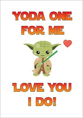 Personalised Funny Star Wars Yoda One For Me Geeky Valentines Day Card