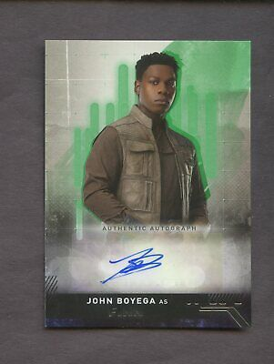 2019 Topps Star Wars The Rise Of Skywalker Finn John Boyega Green Auto 1/50