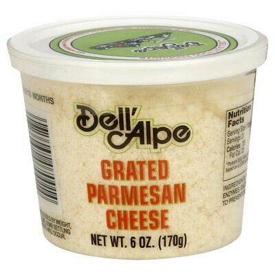DELL ALPE, CHEESE PARM GRATED, 6 OZ, (Pack of 12)