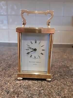 Matthew Norman Carriage Clock Working Condition With Key