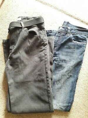2 Pairs Of Boys Designer Jeans Red Herring And Lacoste 14 Years Both Perfect
