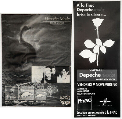 Depeche Mode French Promo Violator Mini Poster + Vintage Speak Spell Mag Advert