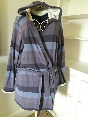 Bnwt Hooded Dressing Gown M&S From The Autograph Range Size 18 Very Soft