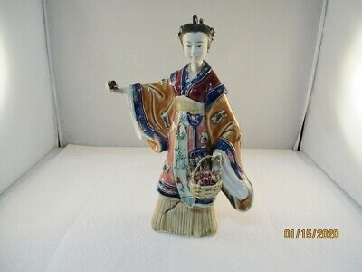 "Porcelain, Asian ,Oriental Woman, Lady Figurine / Statue, 11"" tall #12"
