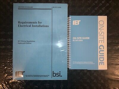 BS 7671 & OSG 2018 IET 18th Edition On Site Guide & Wiring Regulations Brand New