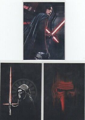 2019 Topps Star Wars Journey To Rise Of Skywalker Kylo Ren Continuity 3Ct Lot