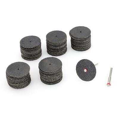 "100pc Fiberglass Reinforced Cut Off Wheel Disc w// 2 Mandrel 1//8/"" Fit Rotary Tool"
