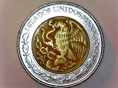 1994 Mexico/Mexican Circulated 1 Peso Bi-Metallic Coin