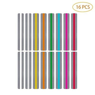 16x Guided Reading Strips Set Multi Colored Overlay Highlight Bookmarks Reading