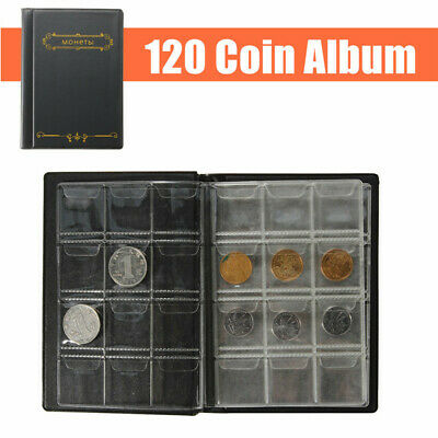 250 Coin Holder Collection Storage Collecting Money Penny Pockets Album Book #L