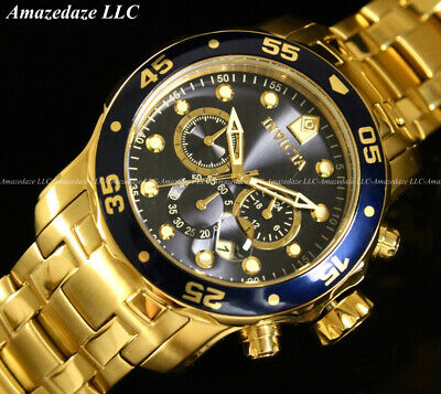 NEW Invicta Men's Pro Diver Scuba Chronograph Stainless Steel Blue Dial Watch !!