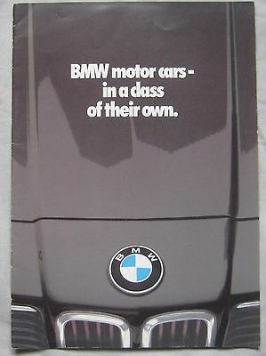 1980 BMW range Brochure Publication number 011150220