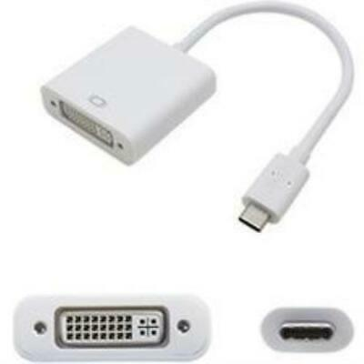 Add-on Addon 5 Pack Of 20cm (8in) Usb 3.1 Type (c) Male To Dvi-i Female White Ad