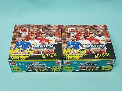 Topps Match Attax 2018/2019  Action 2 x Display / 40 Booster 18/19