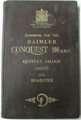 DAIMLER Conquest II BHP Car Owners Handbook 1954 Century Saloon Coupe Roadster