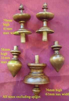 finial set#1 stained   clock FINIALS plus our range PLEASE LOOK clock parts
