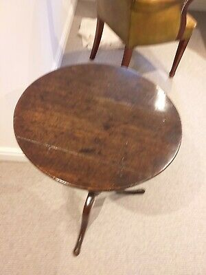 Georgian Oak Tripod Tip Top Circular Wine Table