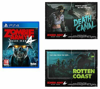 Zombie Army 4 Sony Playstation PS4 Game & Poster Bundle