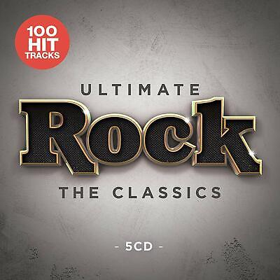 ULTIMATE ROCK THE CLASSICS 5 CD SET - 100 HITS (Released 2019)
