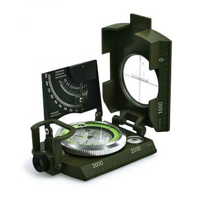 Proster Professional Compass Metal Waterproof IP65 Military Green