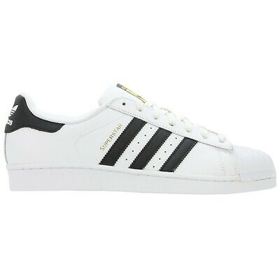 Adidas Originals Mens Superstar Size Uk 7.5 White Trainers Shoes New Damaged Box