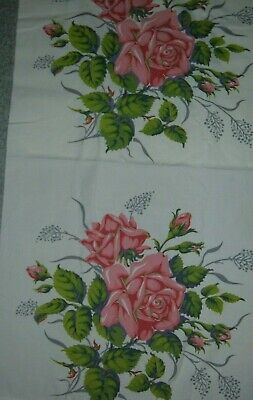 Vintage Wilendur Pillow Cover Rose From Tablecloth