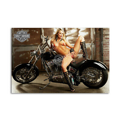 Z • 776 Harley Davidson Locker Magnet Cute Girl Mini Poster Other Collectible