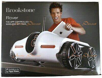 Brookstone Rover Picture Taking App-Controlled Spy Tank WiFi Vehicle (AC13) READ