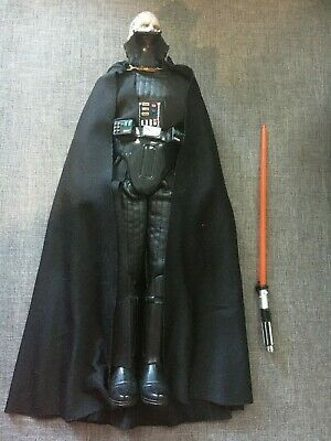 "Hasbro 1997 1/6 Scale 12"" Star Wars Darth Vader Action Figure w/ Lightsaber Used"