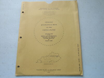Geological Map of the White Oak Quadrangle, Magoffin & Morgan Co. Ky ~ 1978
