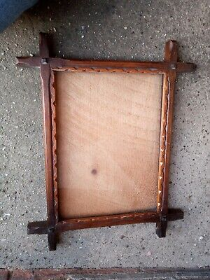 Early 1900s Wooden Picture Frame