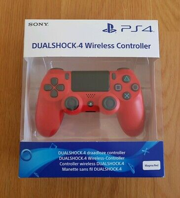 Official Sony Ps4 Dualshock 4 Wireless Controller (Magma Red) Brand New Sealed!