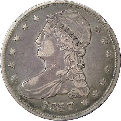 1837 50c Capped Bust Silver Half Dollar Coin VF/XF Very Fine / Extremely Fine