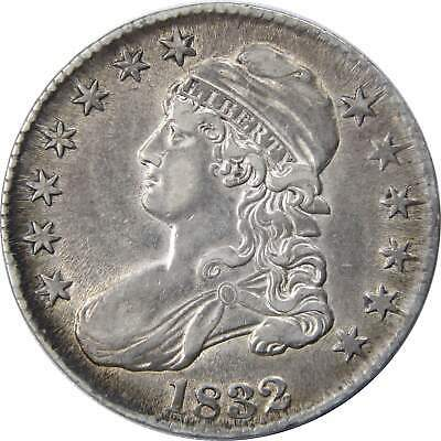 1832 50c Capped Bust Silver Half Dollar Coin AU About Uncirculated