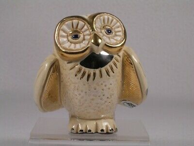 White Confetti Owl Collectable Figurine Rinconada De Rosa