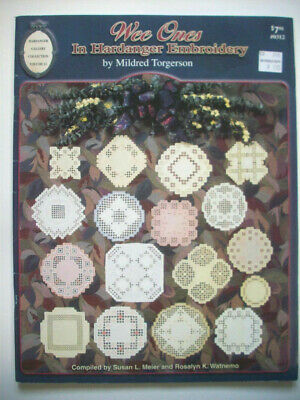 Wee Ones in Hardanger Embroidery pattern booklet small doilies designs