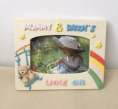Russ Kids Mommy N Daddy's Little One Photo Frame New