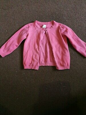 girls pink long sleeved cardigan age 2-3 yrs by   Primark