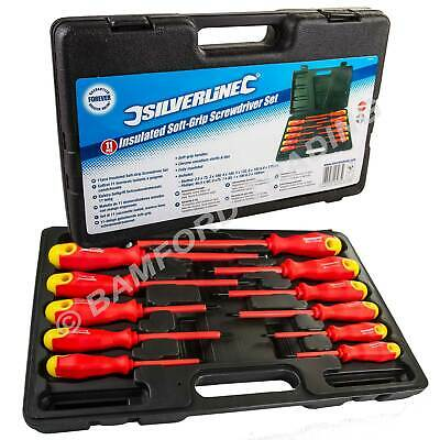 Electricians Screwdriver Set Tool Electrical Fully Insulated 18 Pc with Kit Case