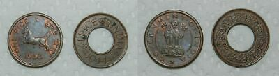 India : 2 X Pice Coins 1944 & 1953